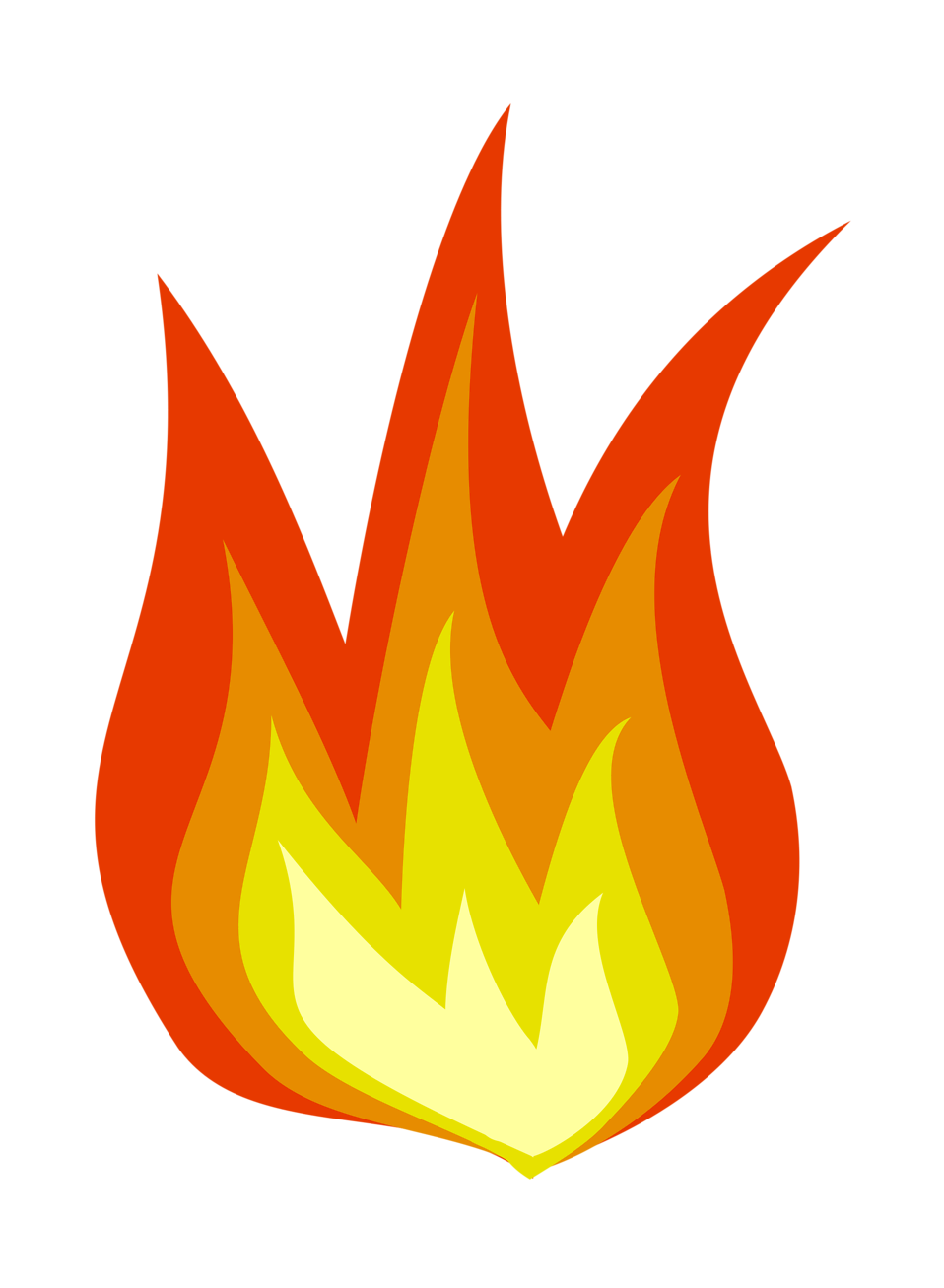 Illustration of a flame : Free Stock Photo