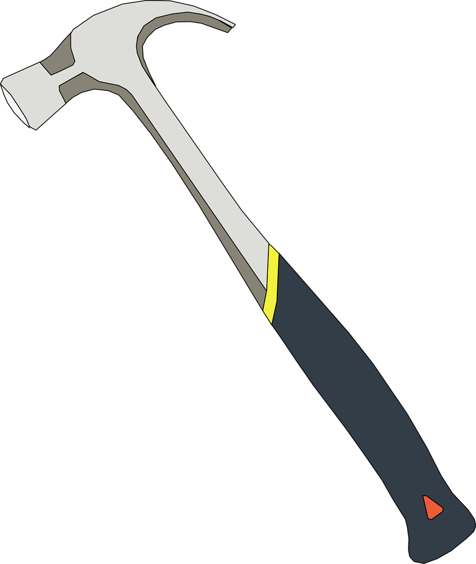 Illustration of a hammer : Free Stock Photo