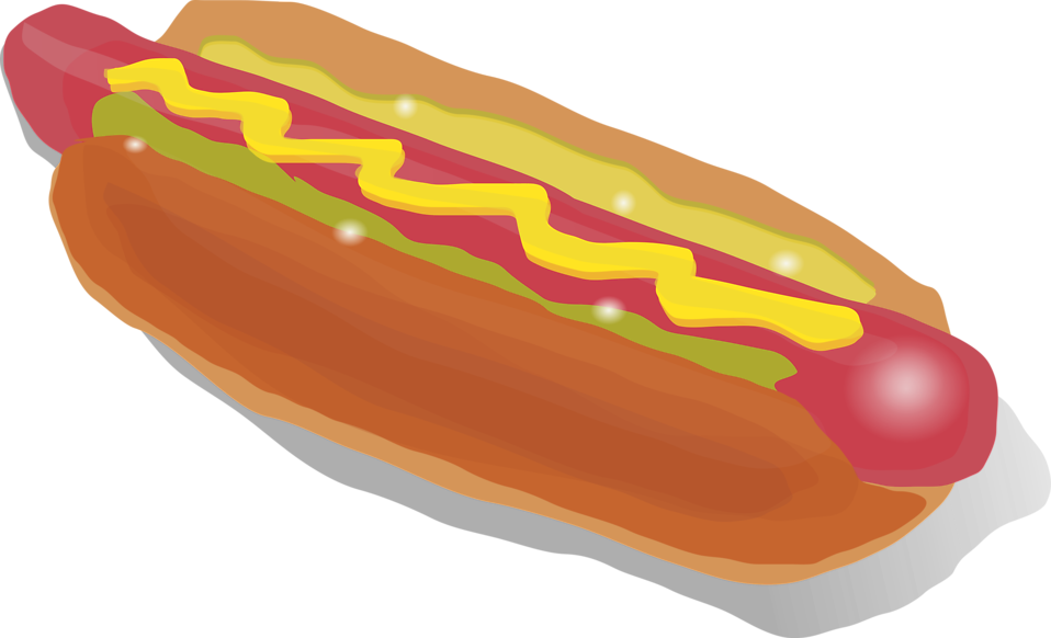Illustration of a hotdog with mustard : Free Stock Photo