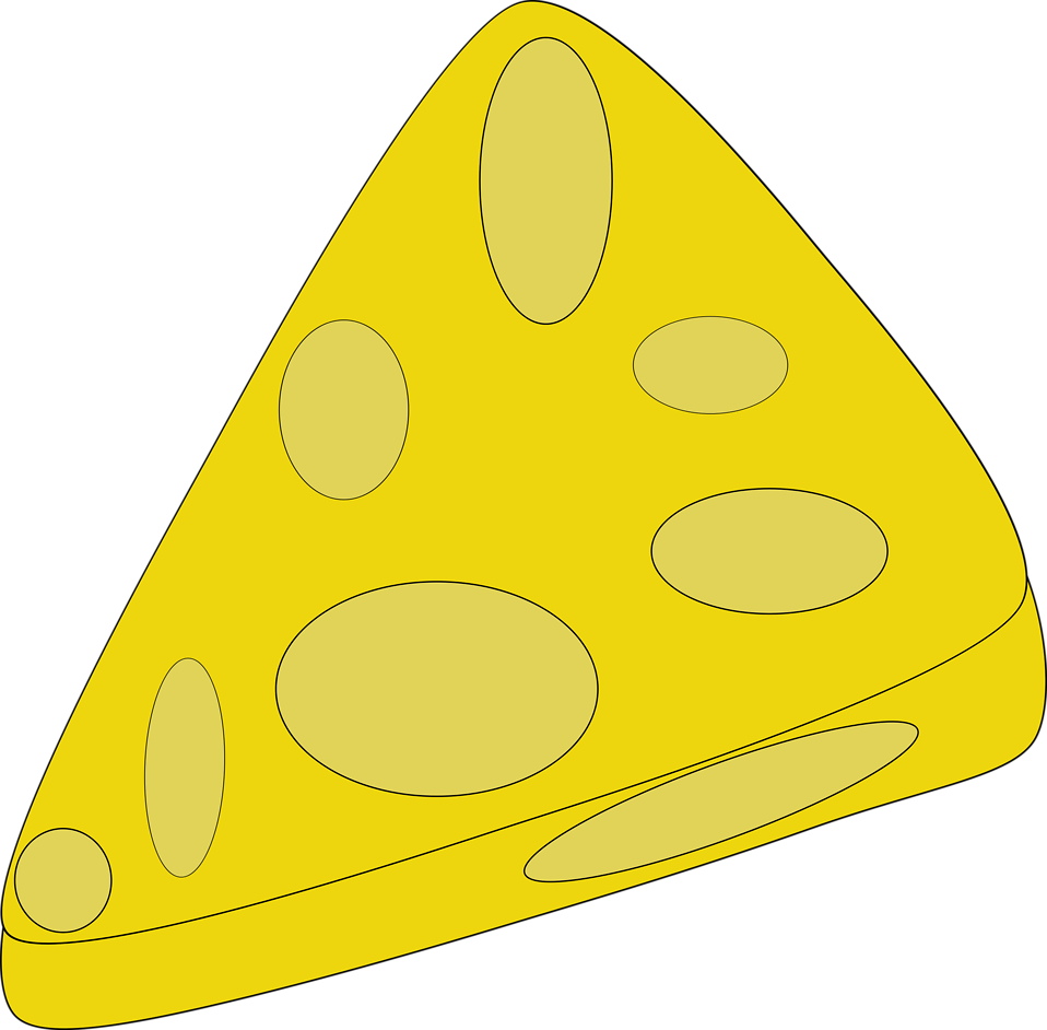 Illustration of a slice of cheese : Free Stock Photo