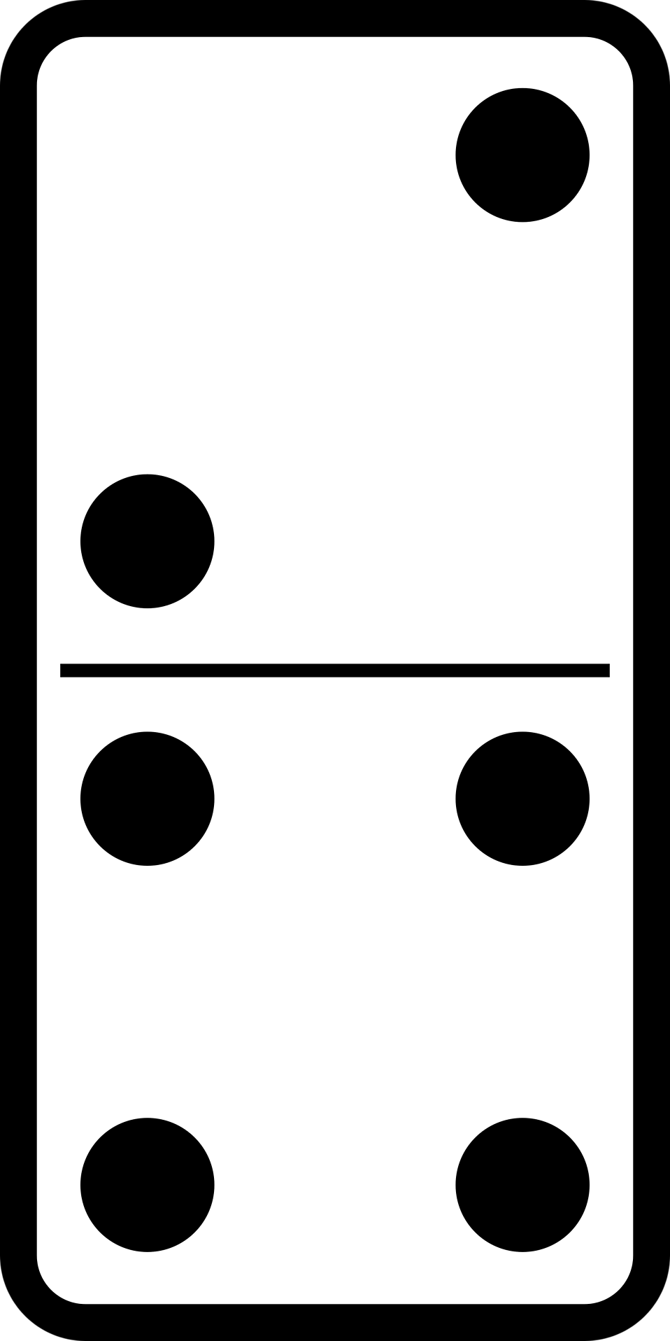 Illustration of a domino tile : Free Stock Photo