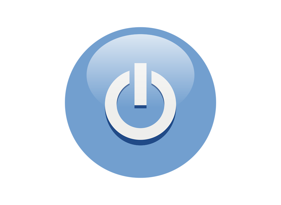 Illustration of a blue power button icon : Free Stock Photo