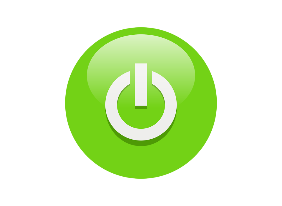Illustration of a green power button icon : Free Stock Photo