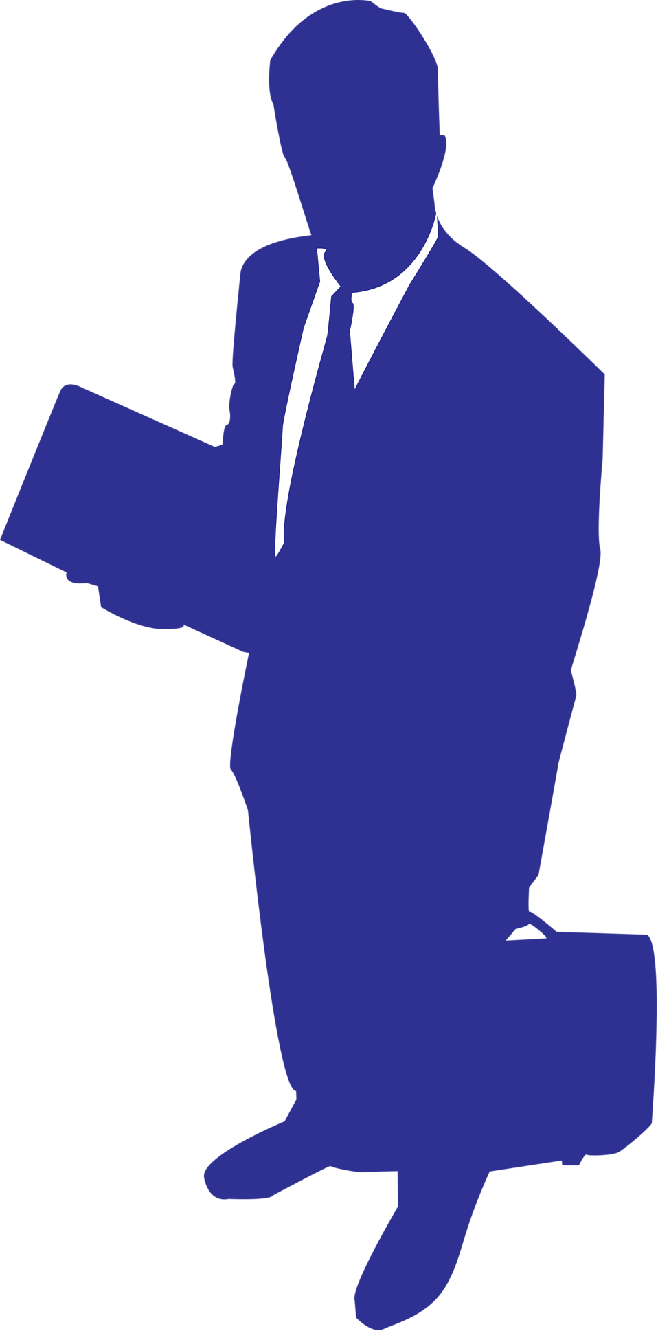 Illustration of a business man's silhouette : Free Stock Photo