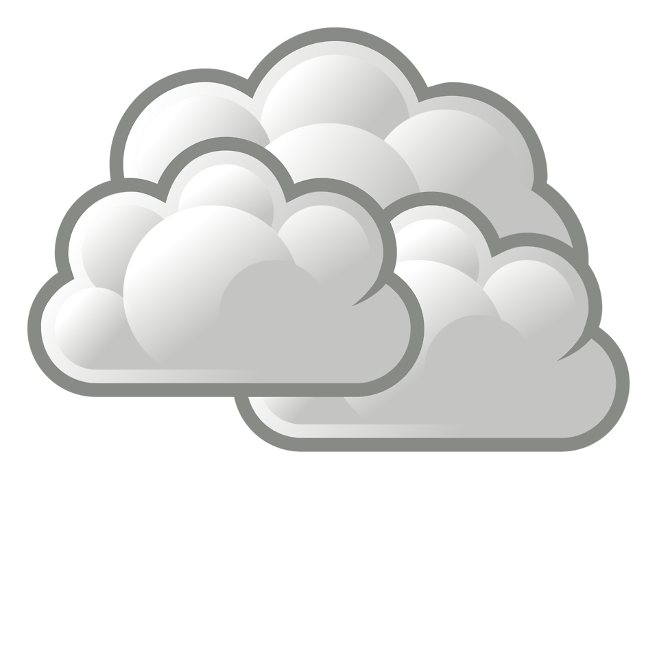 Illustration of a stormy cloud : Free Stock Photo
