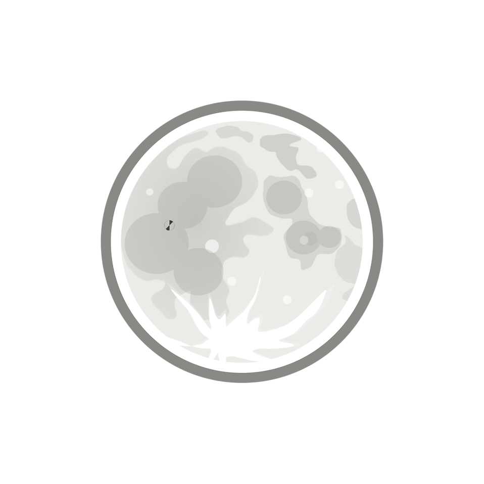 Illustration of the full moon : Free Stock Photo