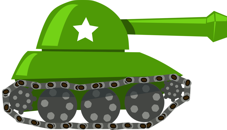 Illustration of an army tank : Free Stock Photo