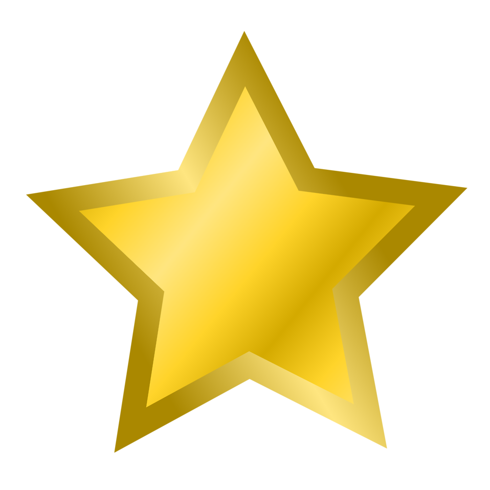 Illustration of a gold star : Free Stock Photo