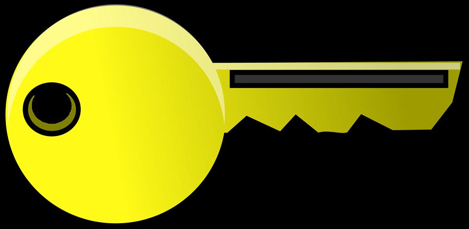 Illustration of a gold key : Free Stock Photo