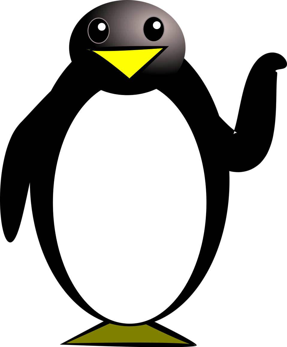 Illustration of a cartoon penguin : Free Stock Photo