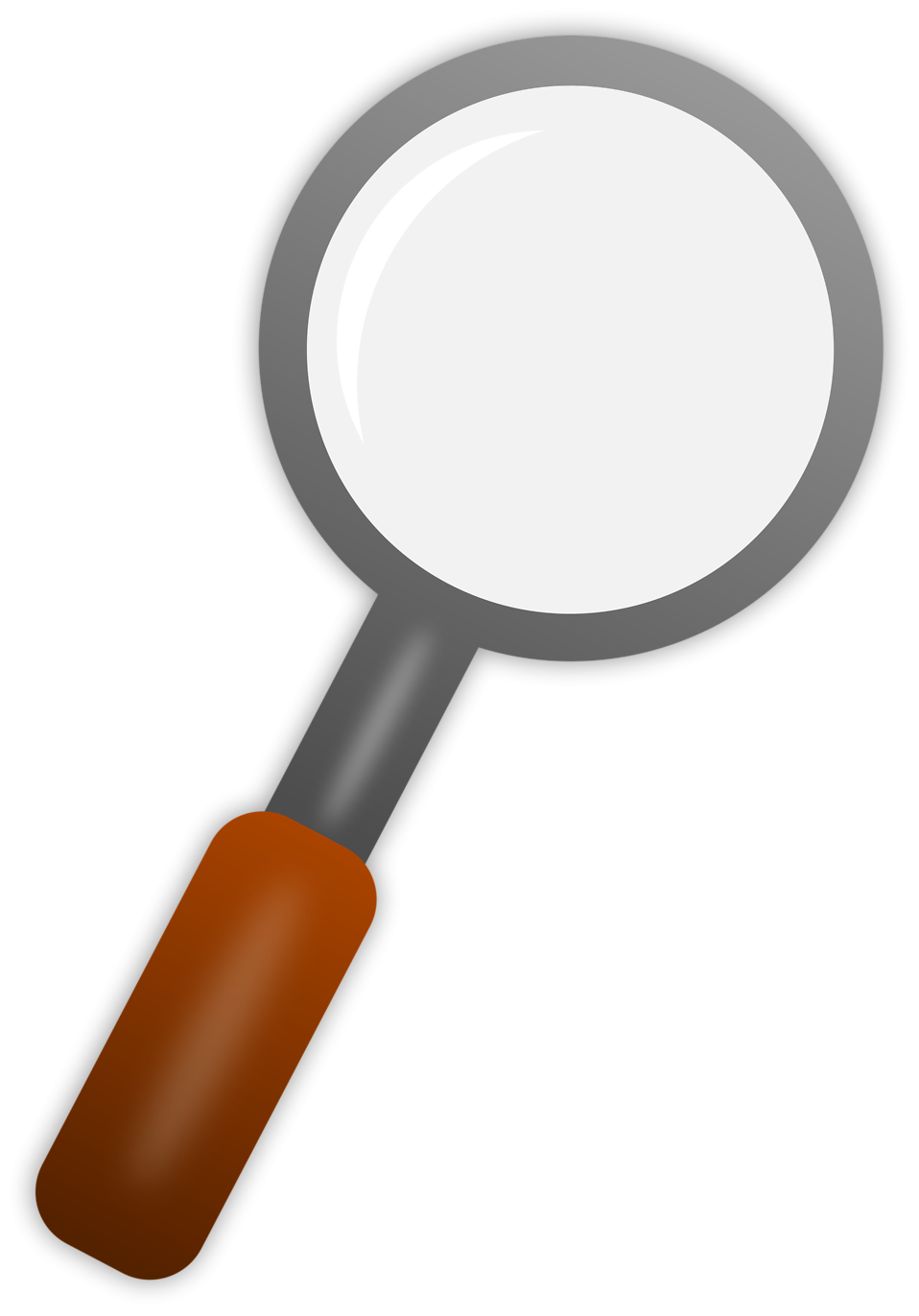 Illustration of a magnifying glass : Free Stock Photo