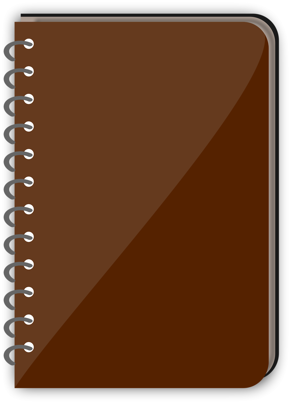 Spiral Notebook Png Of a spiral notebook with