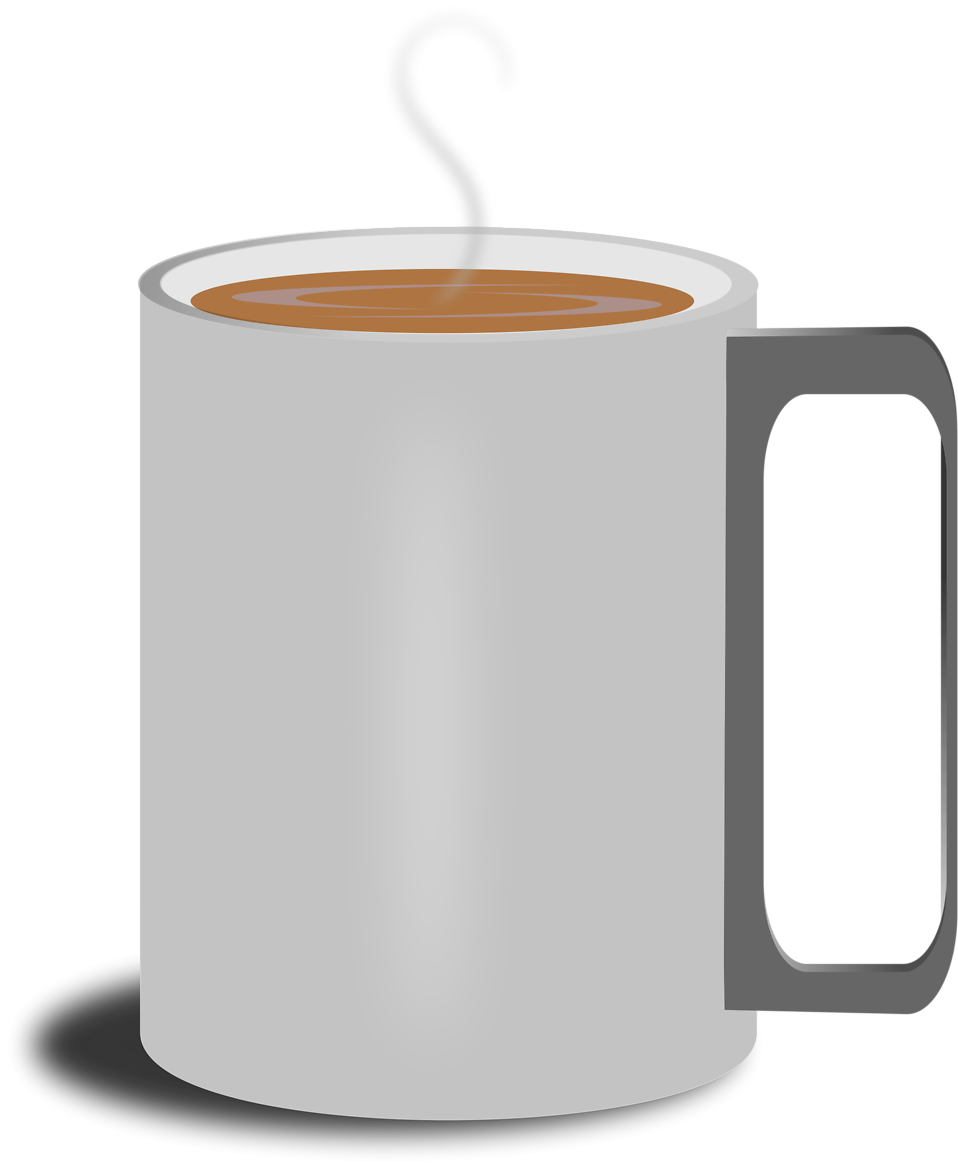 Illustration of a mug of hot coffee : Free Stock Photo