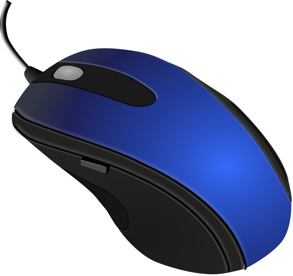 Illustration of a blue computer mouse : Free Stock Photo