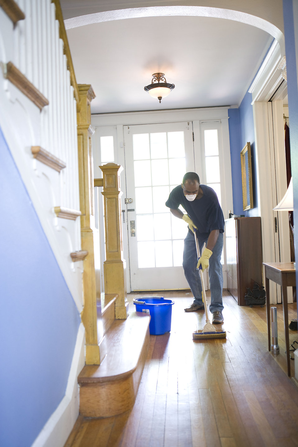 Mopping Free Stock Photo An African American Man