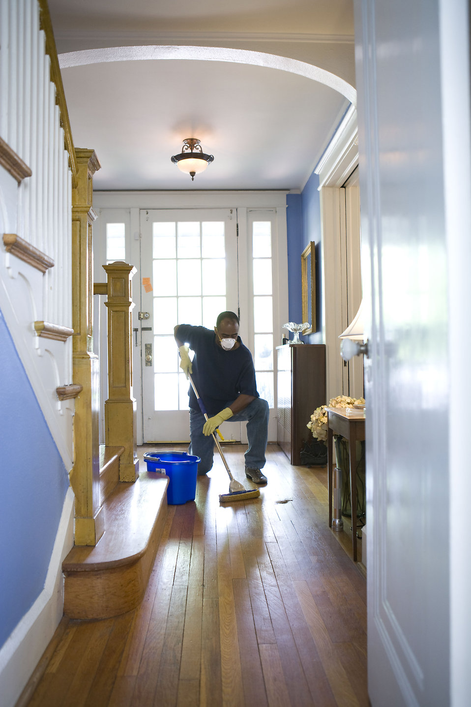 Mopping | Free Stock Photo | An African-American man ...