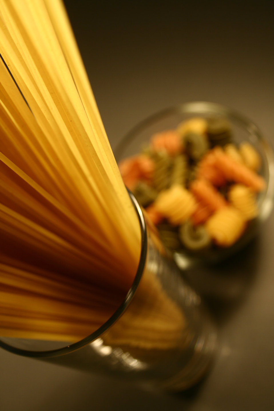 Uncooked pasta on a counter : Free Stock Photo