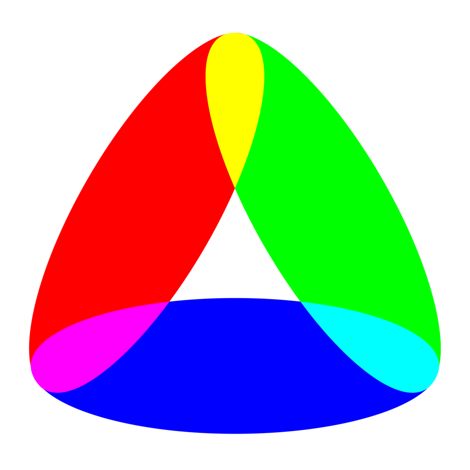 Illustration of a colorful shape : Free Stock Photo