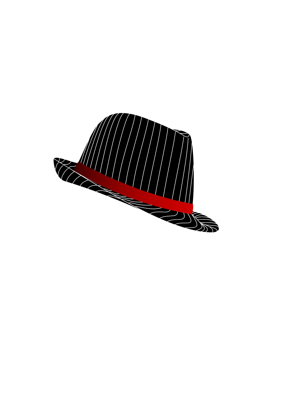 Illustration of a fedora hat : Free Stock Photo