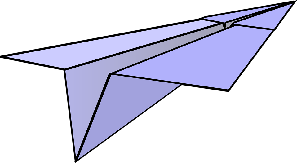 Illustration of a paper airplane : Free Stock Photo