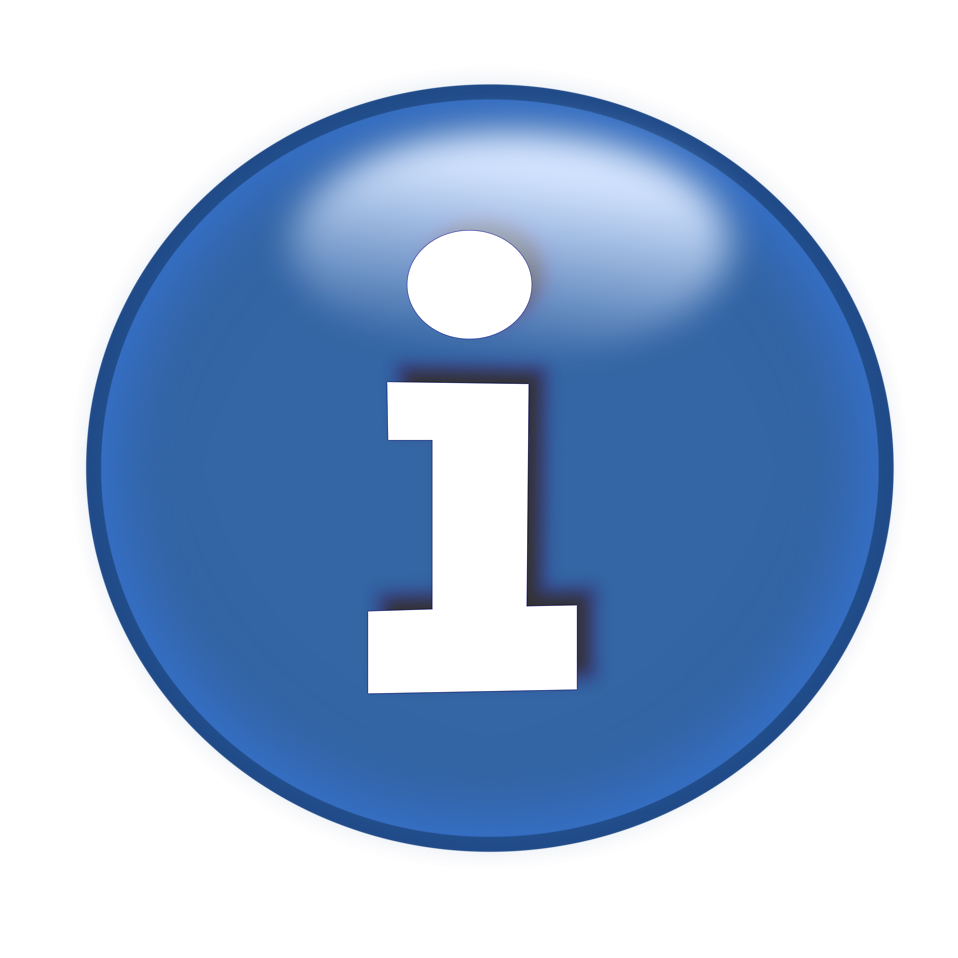 Illustration of a blue information button : Free Stock Photo