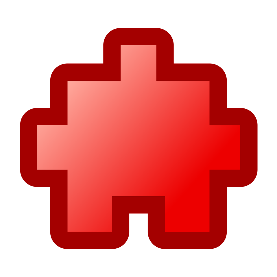 Illustration of red puzzle piece : Free Stock Photo