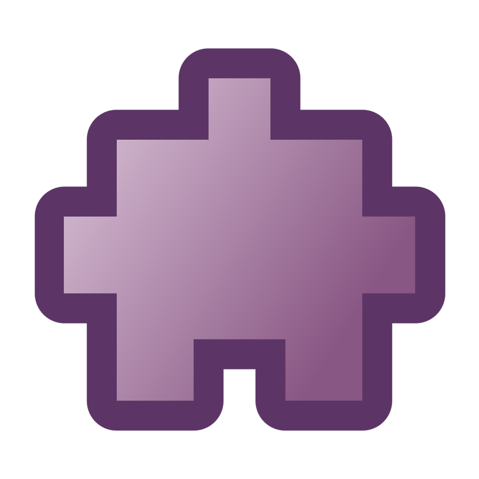 Illustration of purple puzzle piece : Free Stock Photo