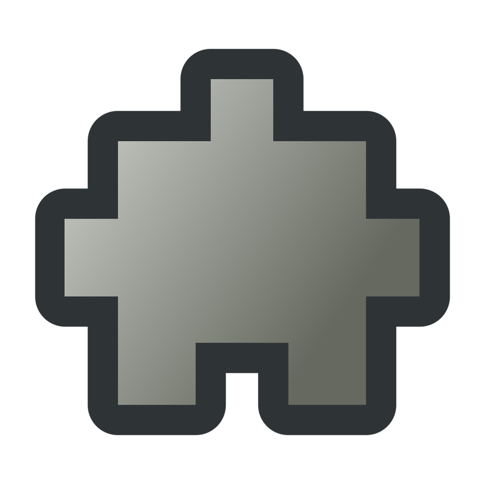 Illustration of a grey puzzle piece : Free Stock Photo