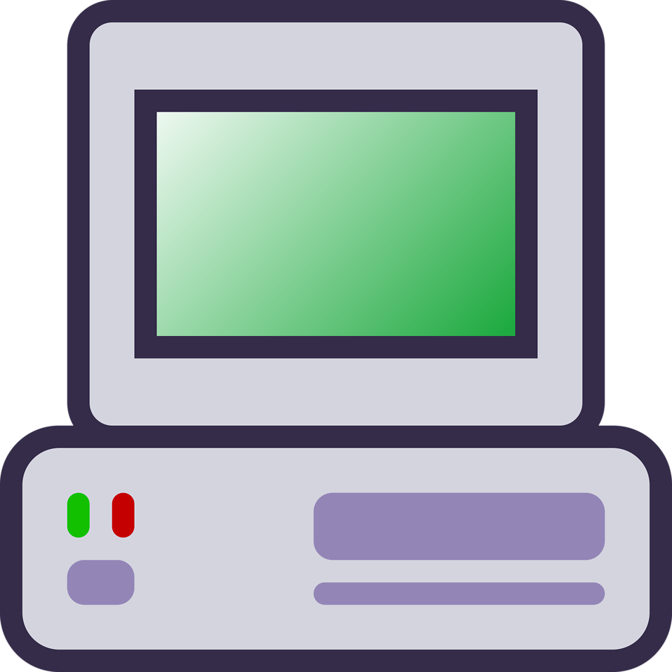 Illustration of a computer icon : Free Stock Photo