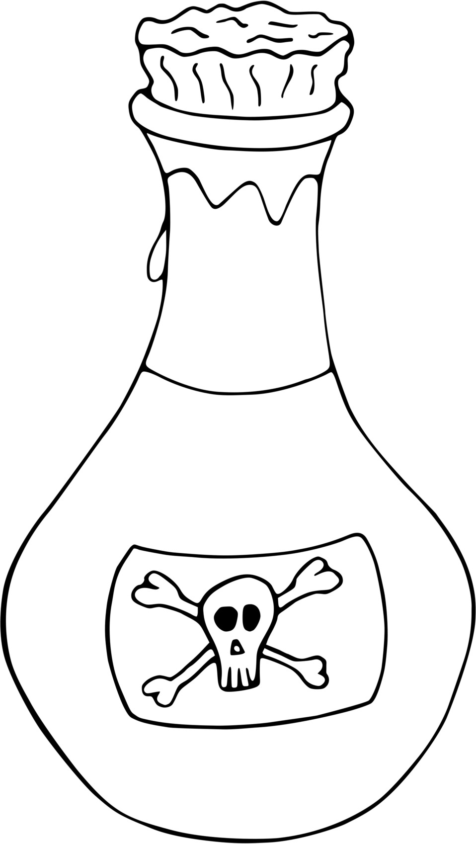 Illustration of a bottle of poison : Free Stock Photo