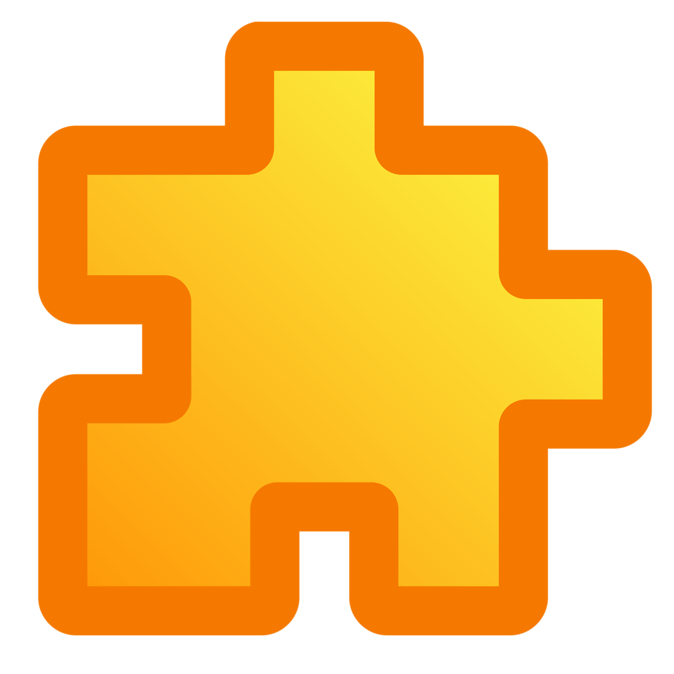 Illustration of a yellow puzzle piece : Free Stock Photo