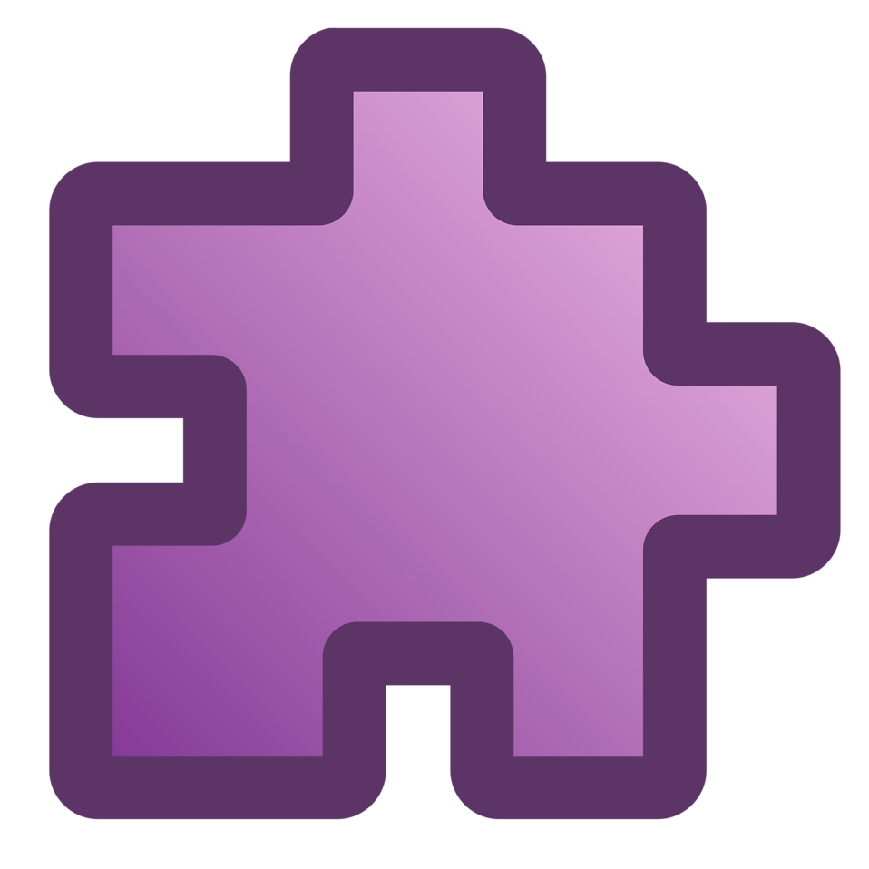 Illustration of a purple puzzle piece : Free Stock Photo