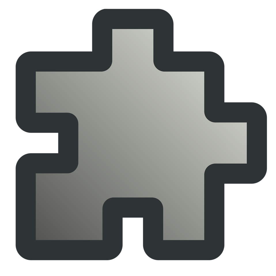 Illustration of a gray puzzle piece : Free Stock Photo