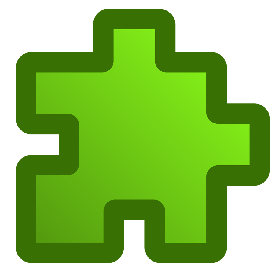 Illustration of a green puzzle piece : Free Stock Photo