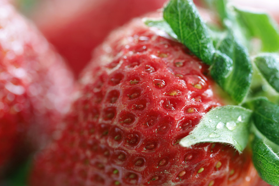 Closeup of strawberries : Free Stock Photo