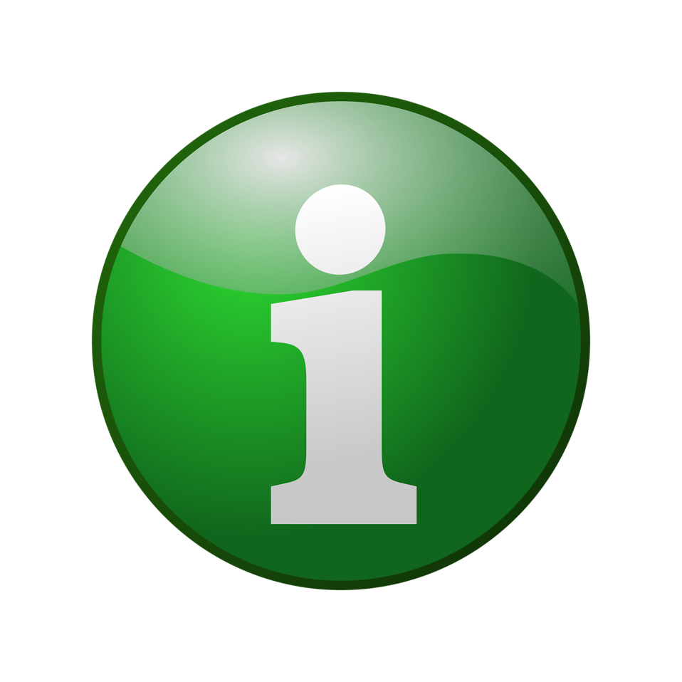 Illustration of a green information button : Free Stock Photo