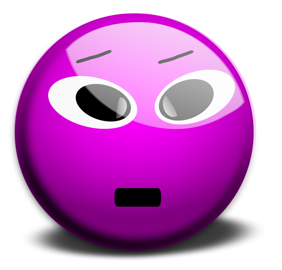 Illustration of a purple smiley face : Free Stock Photo