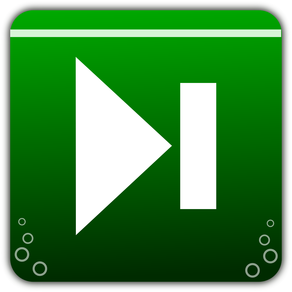 Illustration of green navigation icons : Free Stock Photo
