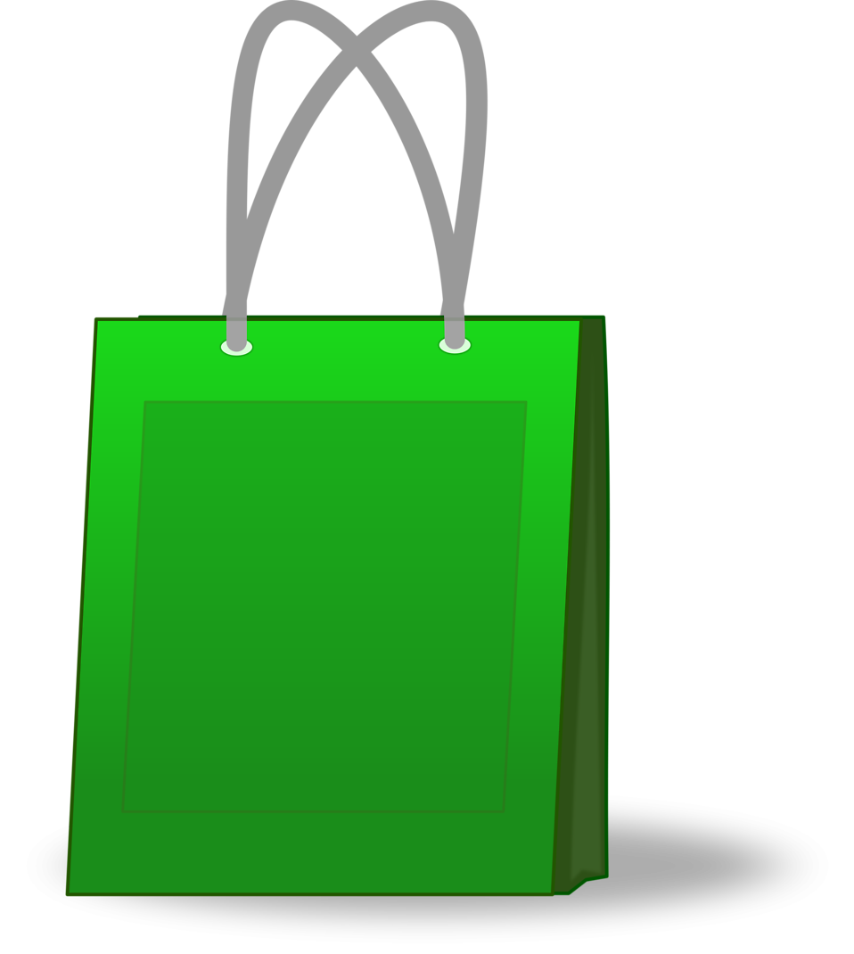 Illustration of a green shopping bag : Free Stock Photo