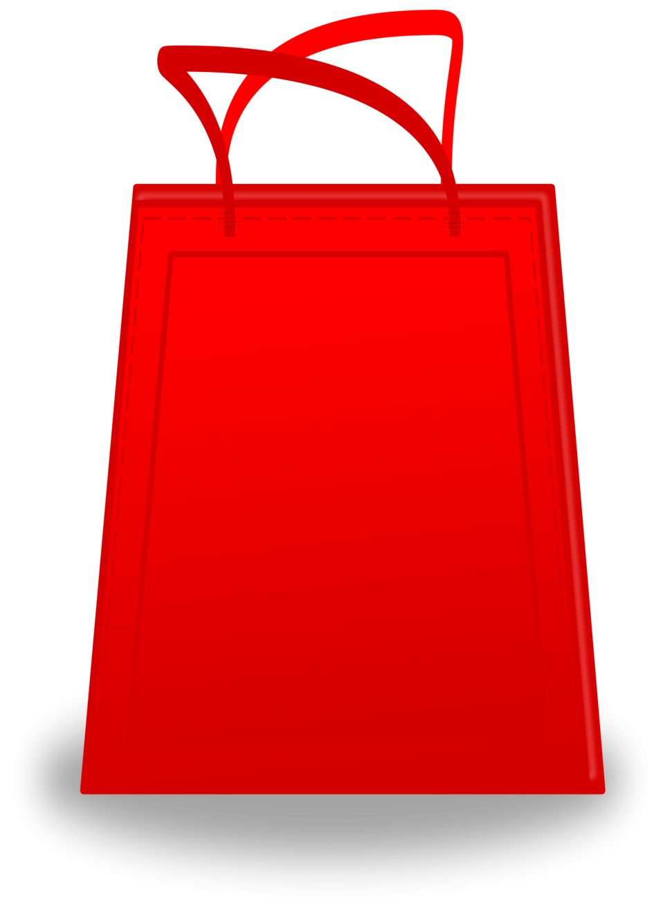 Illustration of a red shopping bag : Free Stock Photo