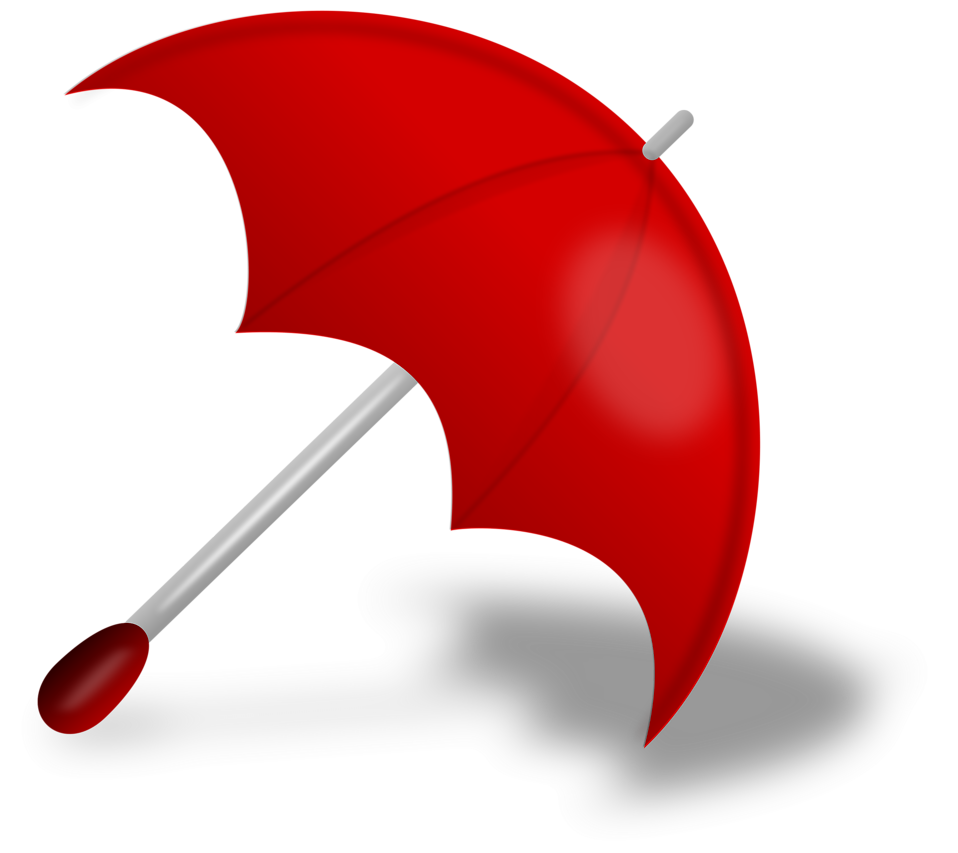 Illustration of a red umbrella : Free Stock Photo