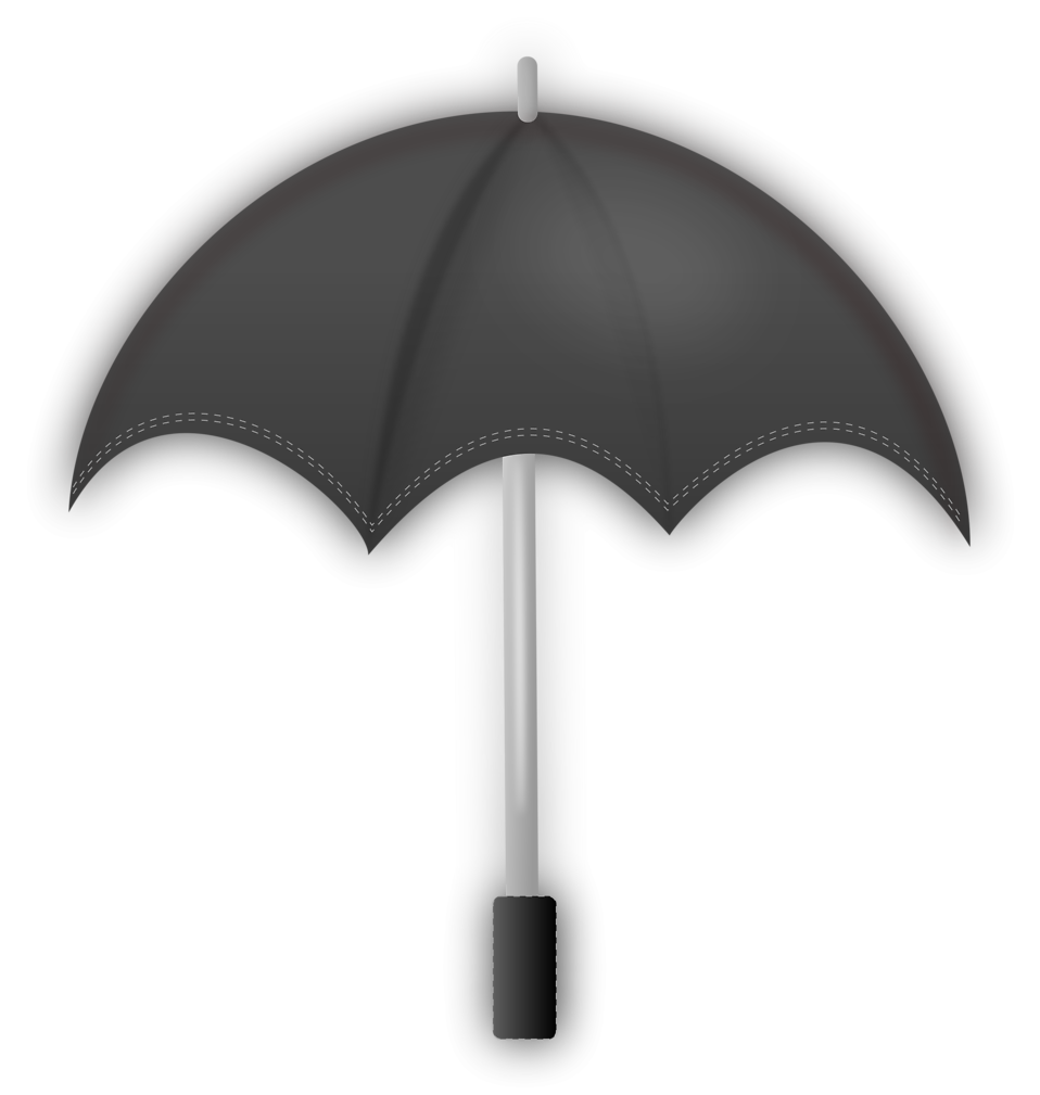 Illustration of a gray umbrella : Free Stock Photo