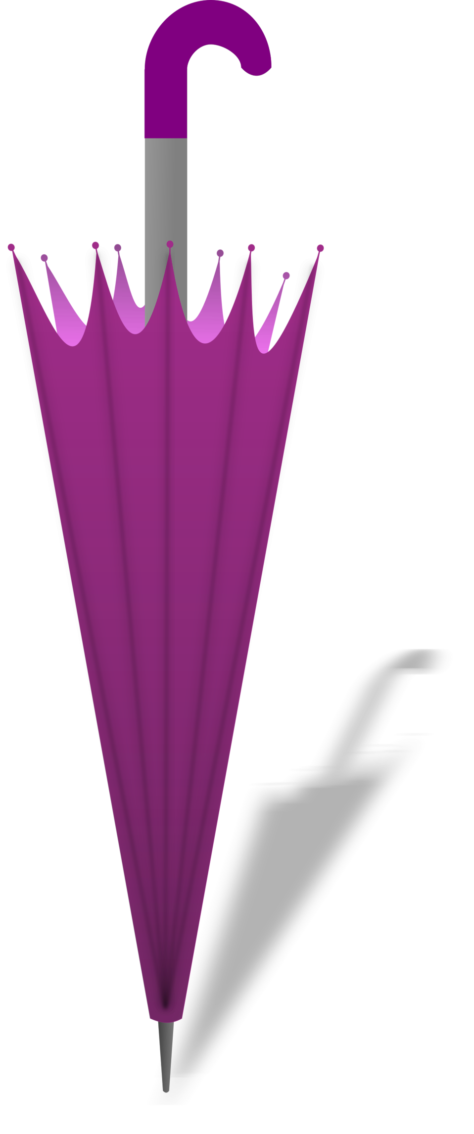 Illustration of a purple umbrella : Free Stock Photo