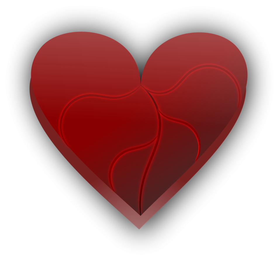 Heart Free Stock Photo Illustration Of A Broken Red