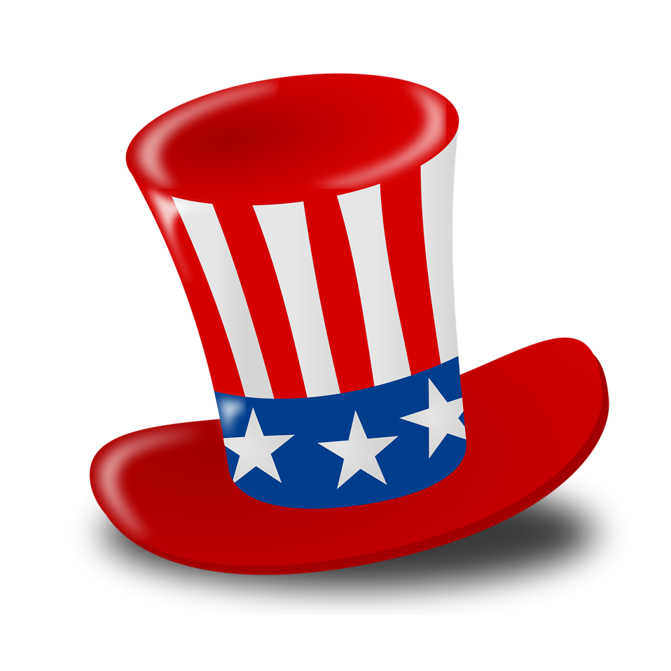 Illustration of a 4th of July hat : Free Stock Photo