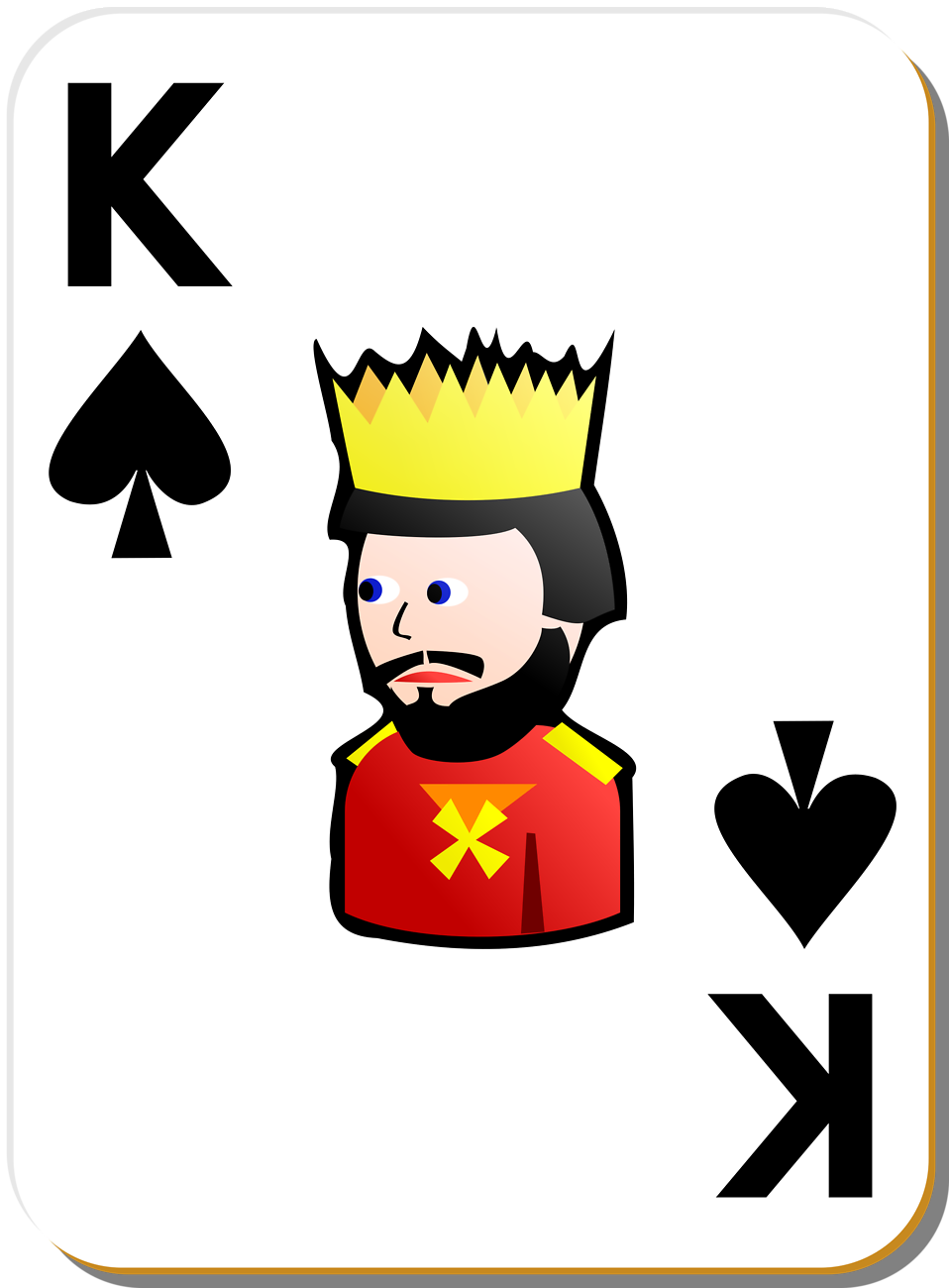 Illustration of a King of Spades playing card : Free Stock Photo