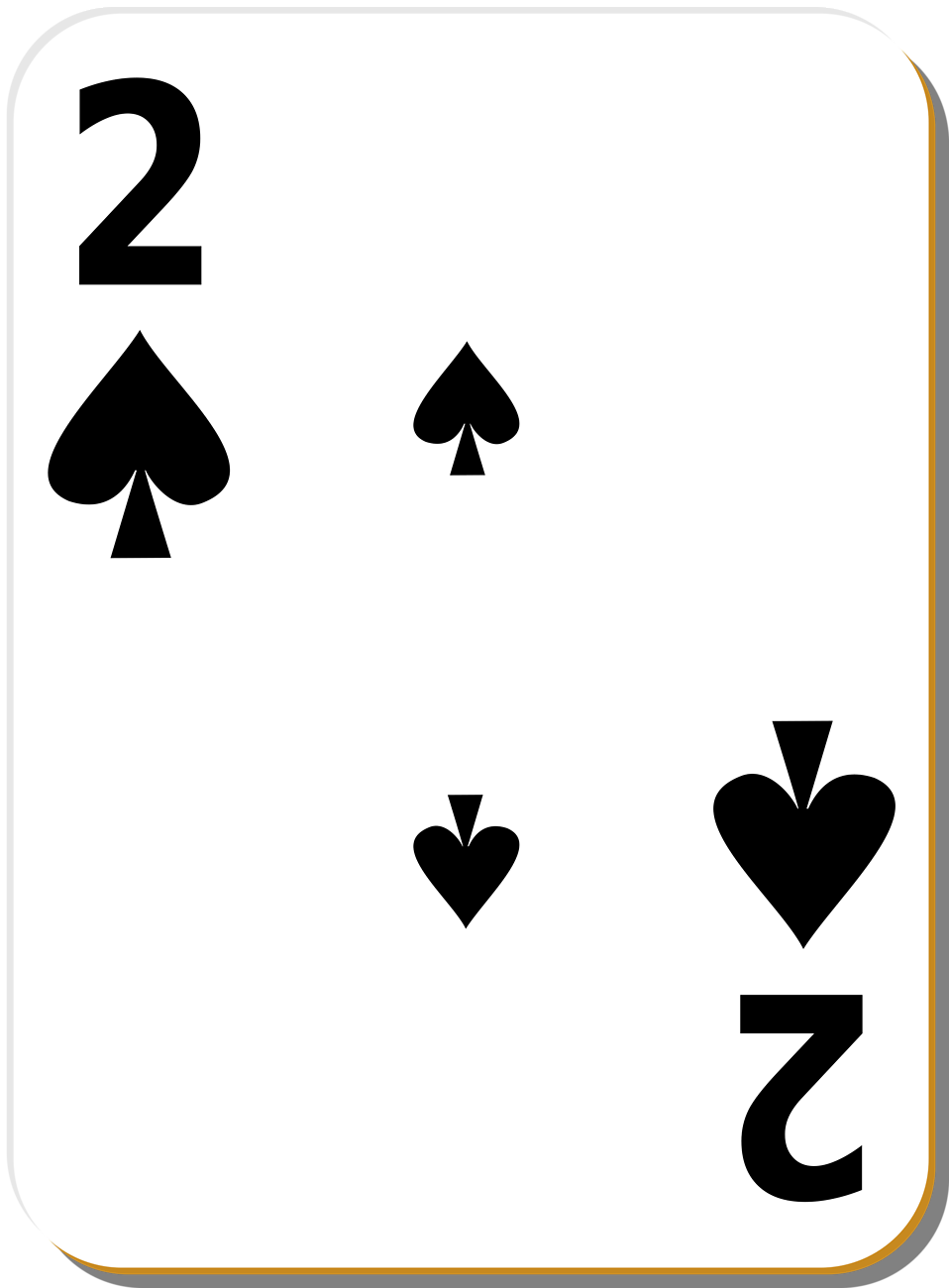 Illustration of a Two of Spades playing card : Free Stock Photo