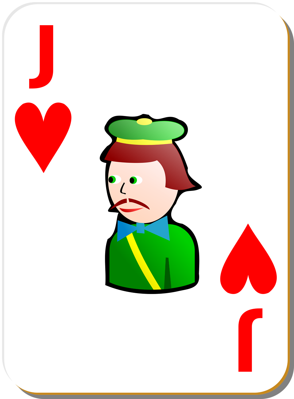 Illustration of a Jack of Hearts playing card : Free Stock Photo