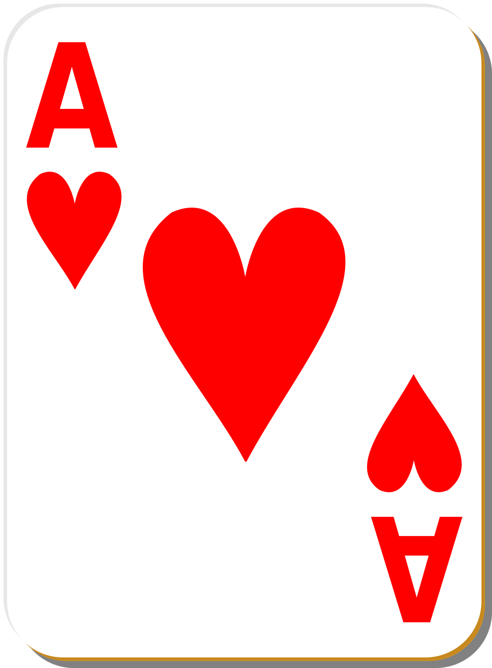 Illustration of an Ace of Hearts playing card : Free Stock Photo