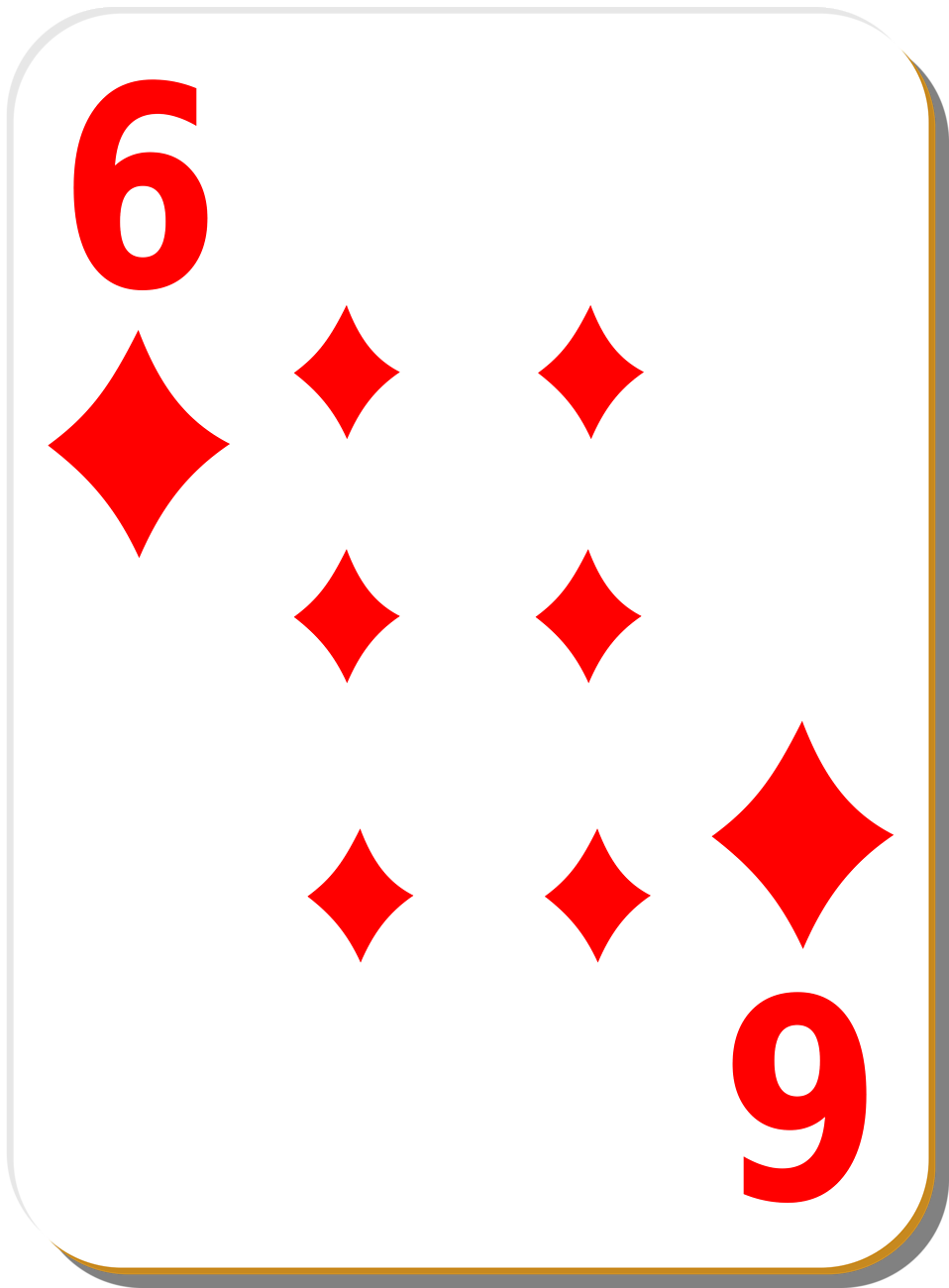 Illustration of a Six of Diamonds playing card : Free Stock Photo